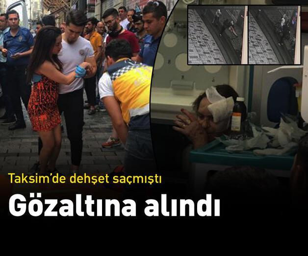 Son dakika: Taksim'de dehşet saçan motosiklet sürücüsü gözaltına alındı
