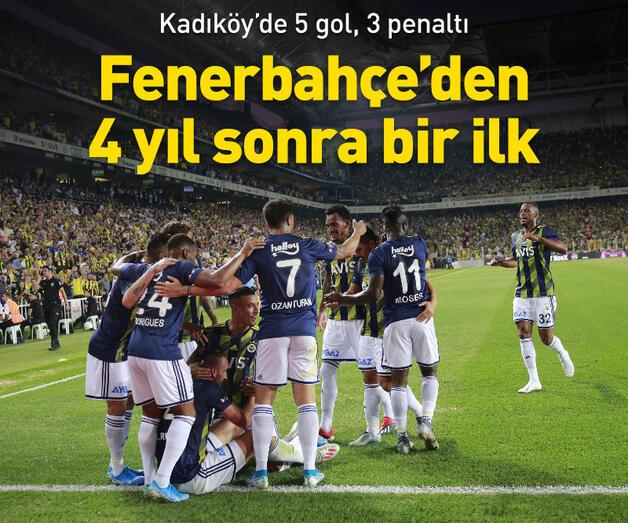 Son dakika: Fenerbahçe 4 yıl sonra bir ilki başardı