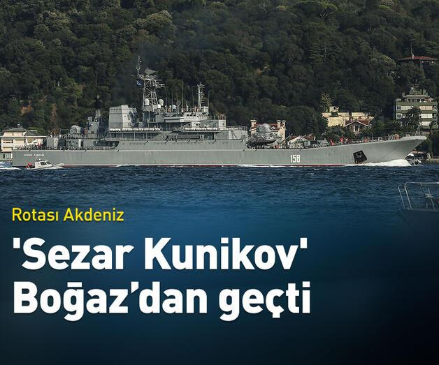 Son dakika: 'Sezar Kunikov' İstanbul Boğazı'ndan geçiş yaptı