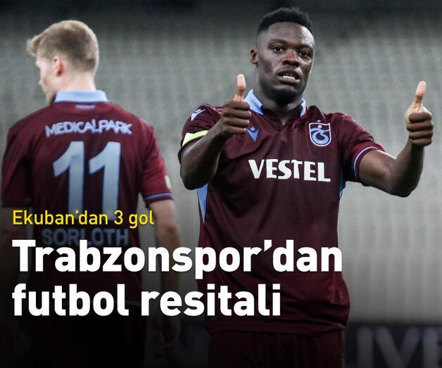 Son dakika: Trabzonspor'dan futbol resitali