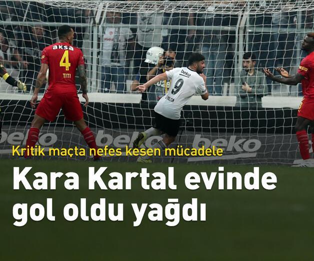 Son dakika: Kara Kartal evinde gol oldu yağdı
