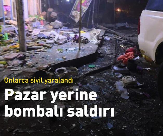 Son dakika: Komşuda pazar yerine bombalı saldırı
