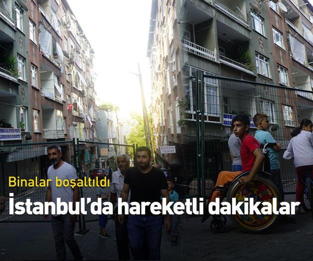 Son dakika: Bağcılar'da 2 bina boşaltıldı