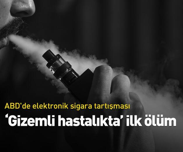 """Son dakika: ABD'de elektronik sigaranın yol açtığı """"gizemli hastalıkta"""" ilk ölüm"""