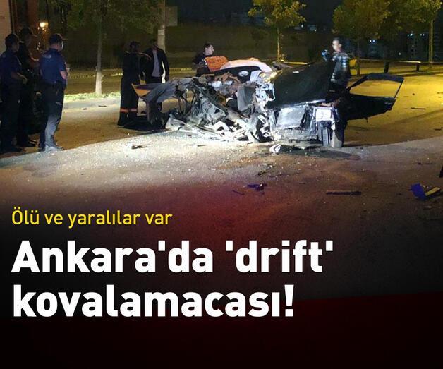 Son dakika: Ankara'da 'Drift' kovalamacası