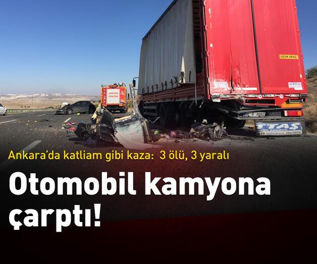 Son dakika: Ankara'da feci kaza
