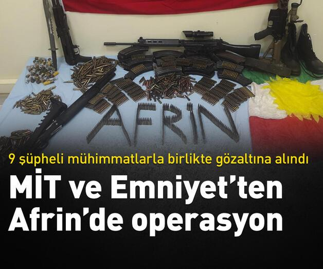 Son dakika: Afrin'de terör operasyonu: 9 gözaltı