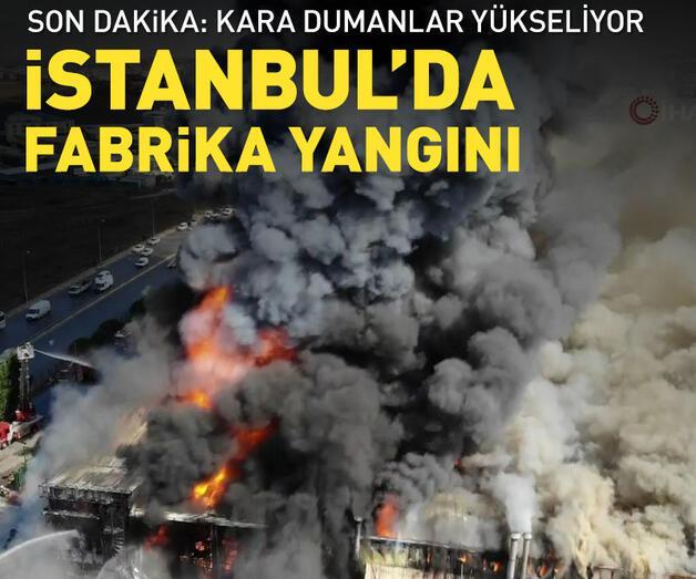 Son dakika: Son dakika... Tuzla Organize Sanayi Bölgesi'nde yangın
