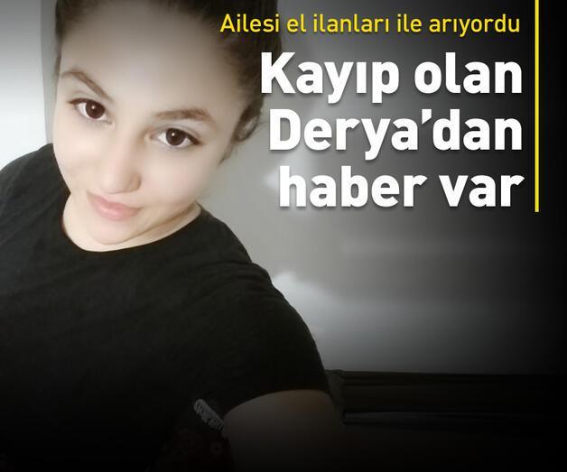 Son dakika: 13 yaşındaki kayıp Derya'dan haber var