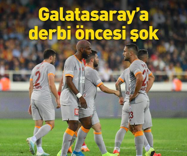 Son dakika: Galatasaray'a derbi öncesi şok