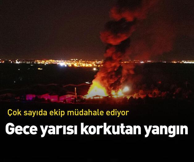 Son dakika: Kırklareli'nde gece yarısı fabrikada yangın