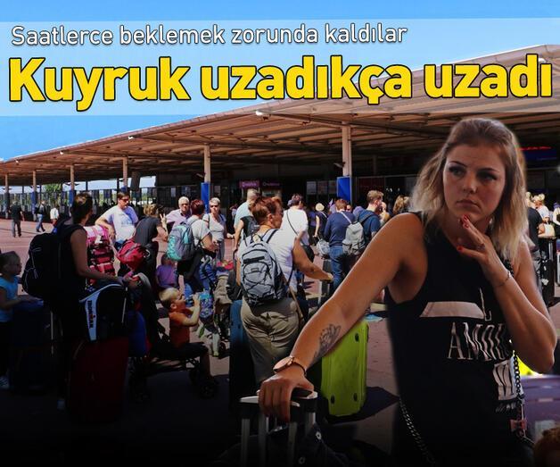 Son dakika: Antalya Havalimanı'nda 'Thomas Cook' kuyruğu