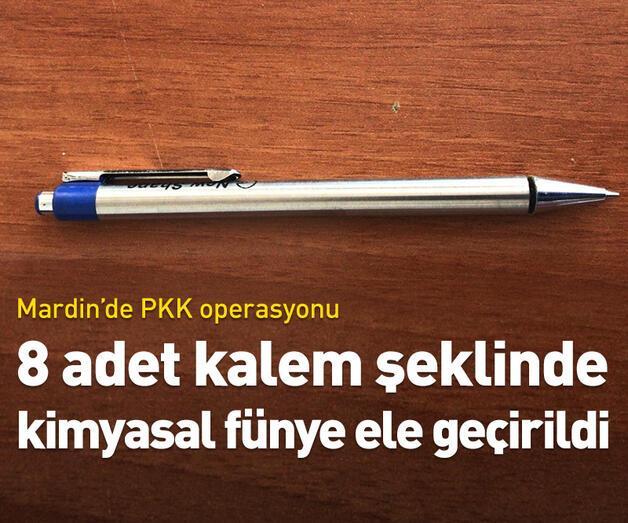Son dakika: 8 adet kalem şeklinde kimyasal fünye ele geçirildi