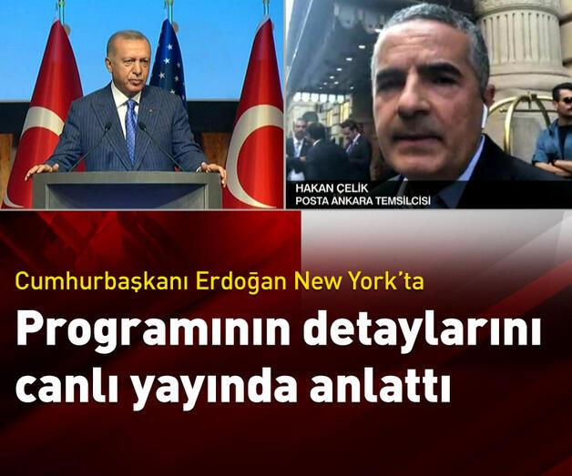 Son dakika: Cumhurbaşkanı Erdoğan New York'ta