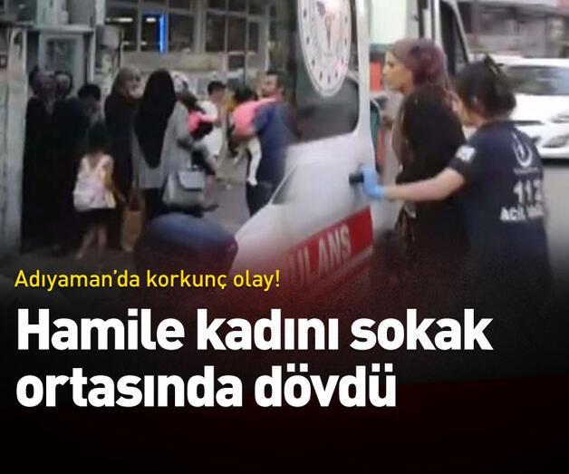 Son dakika: Hamile kadını sokak ortasında dövdü