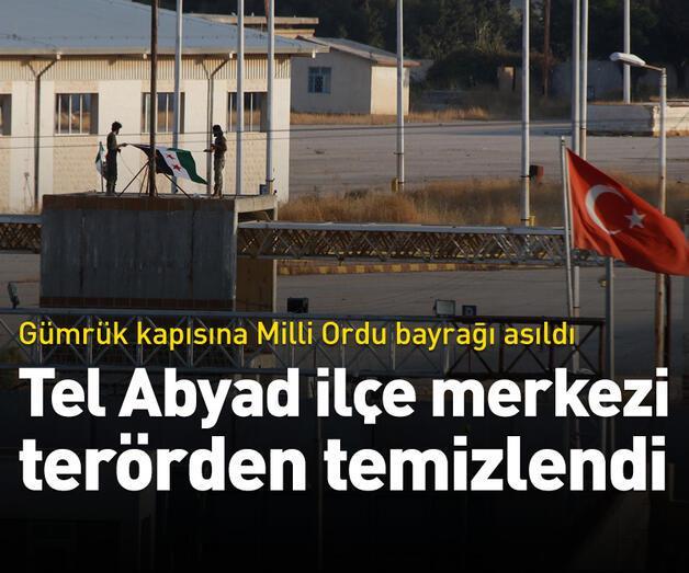 Son dakika: Tel Abyad ilçe merkezi terörden temizlendi
