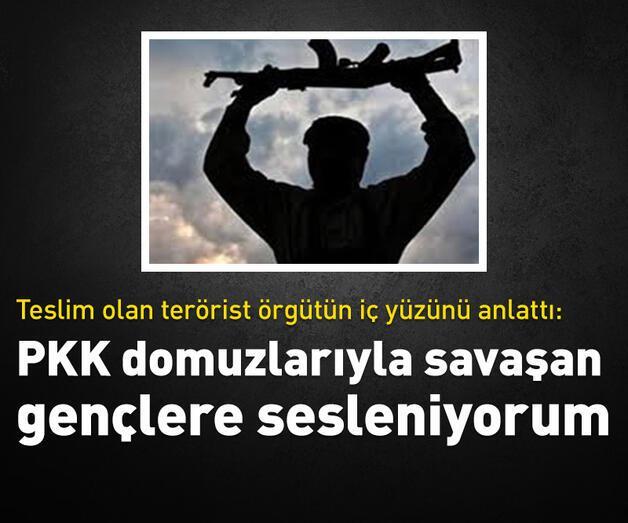 Son dakika: Türk askerine sığınan terörist örgütün iç yüzünü anlattı