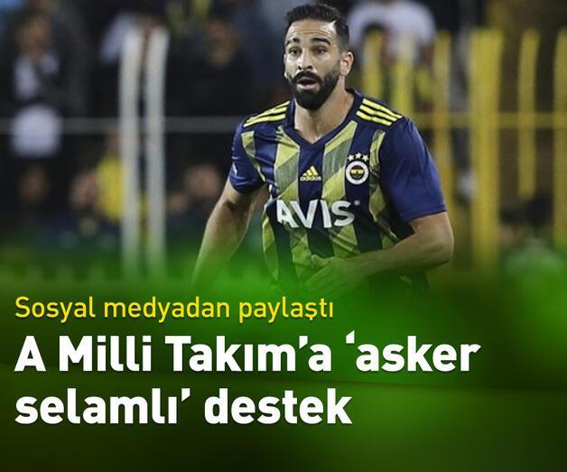 Son dakika: Fenerbahçeli Adil Rami'den 'asker selamlı' paylaşım