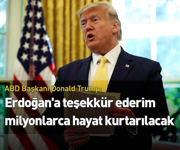 Son dakika: Trump'tan Cumhurbaşkanı Erdoğan'a teşekkür