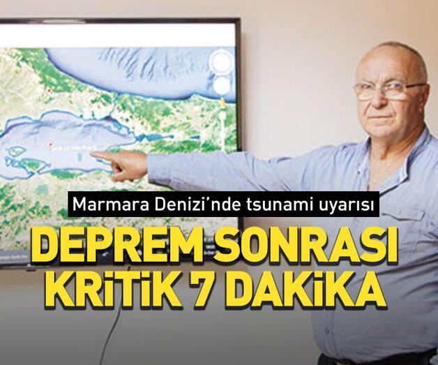 Son dakika: Marmara Denizi'nde tsunami uyarısı