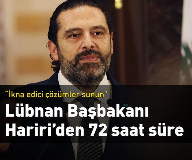 Son dakika: Lübnan Başbakanı Hariri'den 72 saat süre