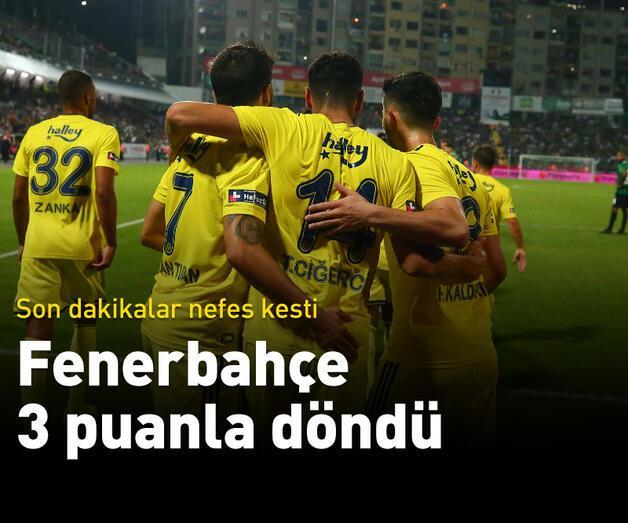 Son dakika: Fenerbahçe 3 puanı aldı