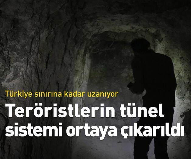 Son dakika: Teröristlerin tünel sistemi ortaya çıkarıldı