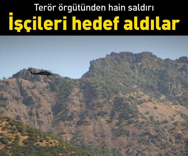 Son dakika: Tunceli'de teröristler yol yapan işçilere saldırdı