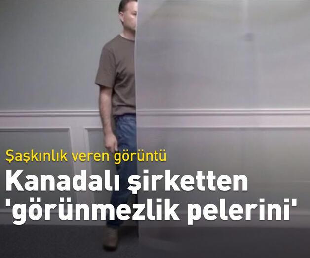 Son dakika: Kanadalı şirket 'Kuantum Görünmezlik' adını verdiği pelerin yaptı