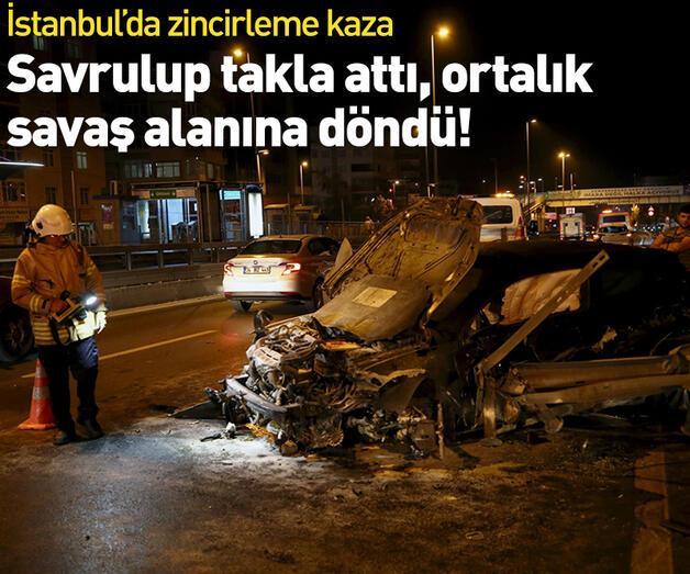 Son dakika: İstanbul'da zincirleme kaza! Ortalık savaş alanına döndü