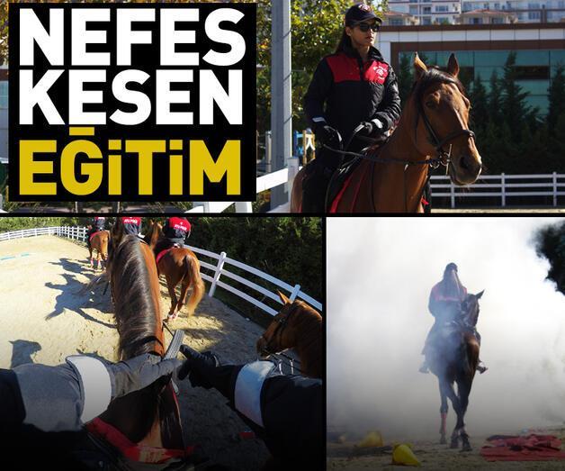 Son dakika: Atlı polislerin nefes kesen eğitimi