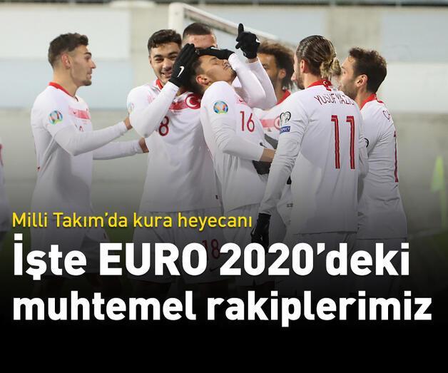 Son dakika: İşte Milli Takım'ın EURO 2020'deki muhtemel rakipleri