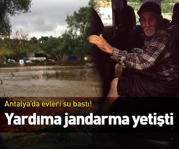 Son dakika: Evleri su bastı! Yardıma jandarma yetişti