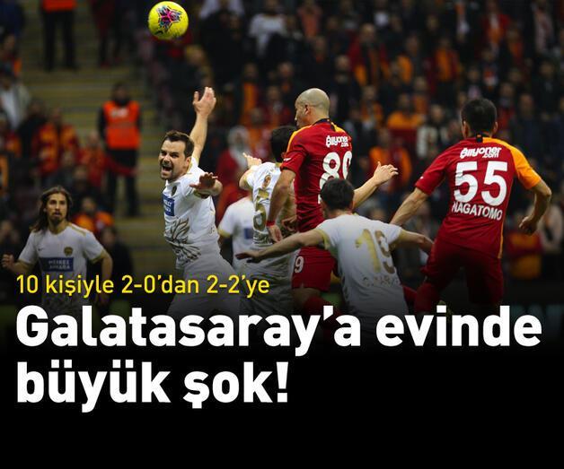 Son dakika: Galatasaray'a evinde büyük şok!