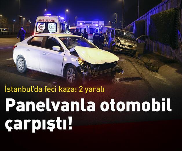 Son dakika: İstanbul'da feci kaza: 2 yaralı