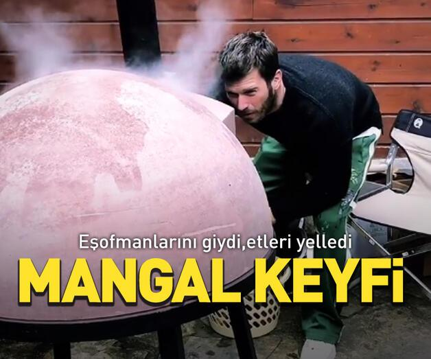 Son dakika: Kıvanç Tatlıtuğ'un mangal keyfi
