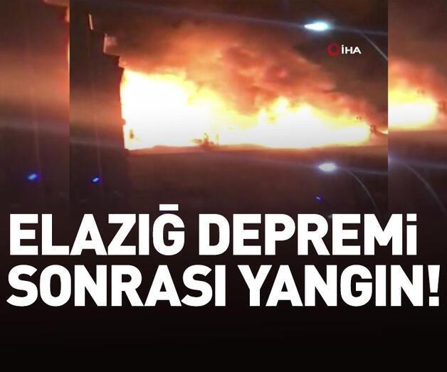 Son dakika: Elazığ'da deprem sonrası yangın!