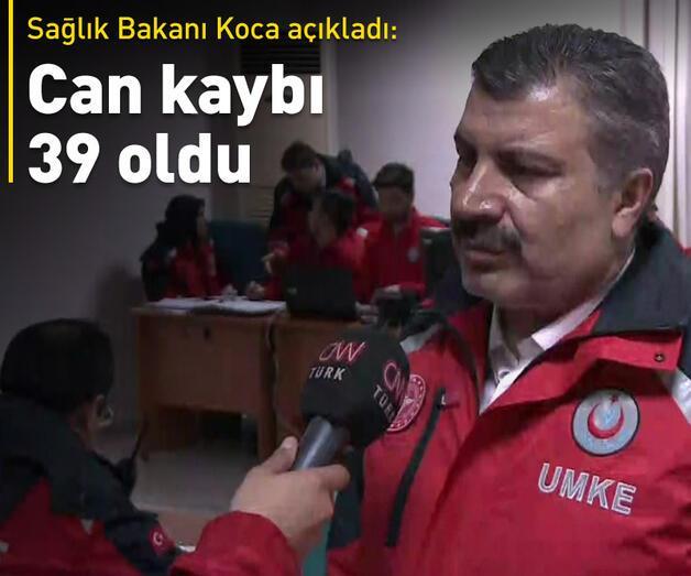 6,8 büyüklüğündeki depremde ölü sayısı 39'a yükseldi