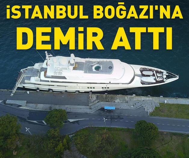 Son dakika: 32 milyon Euro'luk yat İstanbul Boğazı'na demir attı
