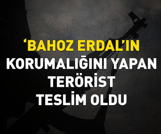 Son dakika: 'Bahoz Erdal'ın korumalığını yapan terörist teslim oldu