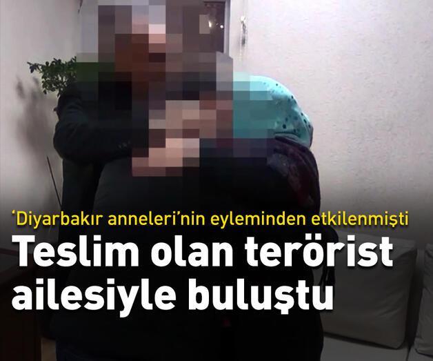 Son dakika: Teslim olan terörist ailesiyle buluştu