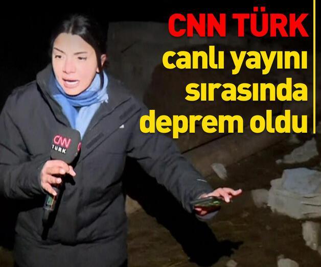 Son dakika: CNN TÜRK canlı yayını sırasında deprem oldu