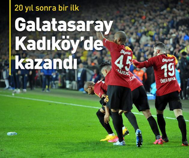 Son dakika: Galatasaray 20 yıl sonra Kadıköy'de kazandı