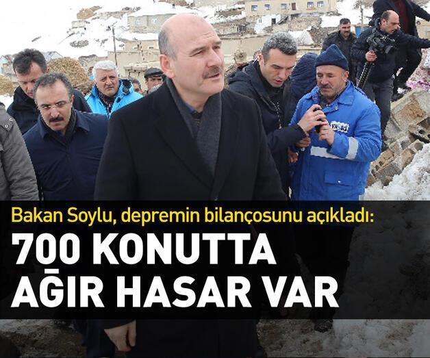 Son dakika: İçişleri Bakanı Soylu depremin bilançosunu açıkladı