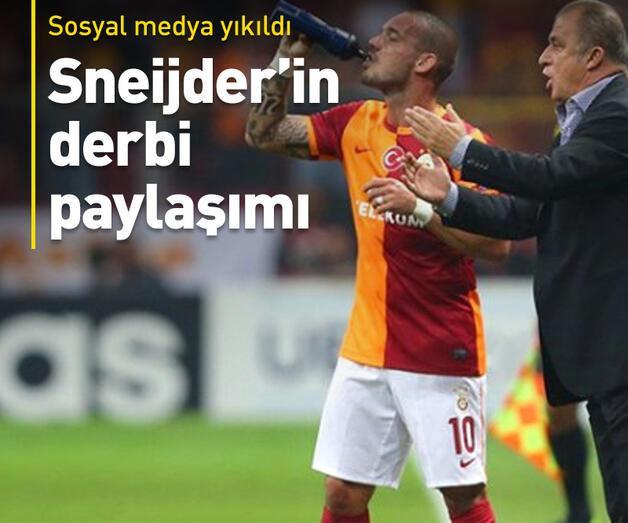 Son dakika: Sneijder'den Fenerbahçe'ye gönderme