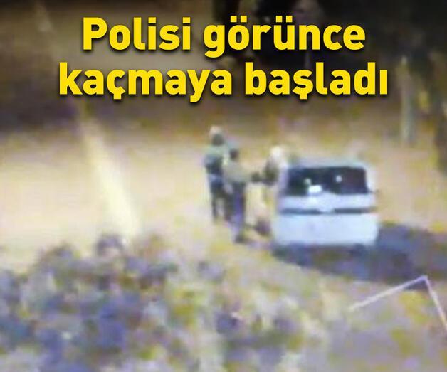 Son dakika: Polisi görünce kaçmaya çalıştı