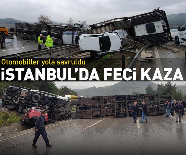 Son dakika: Bursa- İstanbul Karayolu'nda TIR devrildi