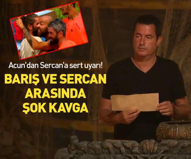 Son dakika: Survivor'da Barış ve Sercan arasında şok kavga!