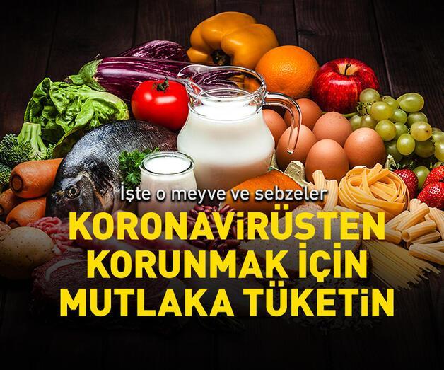 Son dakika: İşte koronavirüse karşı tüketilmesi gereken meyve ve sebzeler
