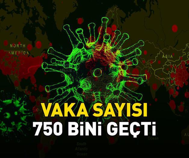 Son dakika: Dünya genelinde vaka sayısı 750 bini geçti